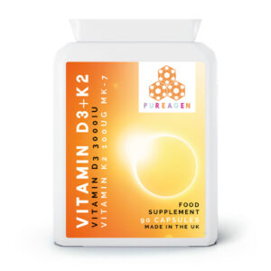 Vitamin D3 + K2 | 90 Capsules - 3 month supply